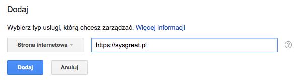 Jak dodać/wstawić kod Google Search Console na stronę w WordPress - dodaj